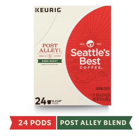 Seattle's Best Coffee Post Alley Blend Dark Roast Single Cup Coffee for Keurig Brewers, Box of 24 K-Cup (Best Keurig For The Money)