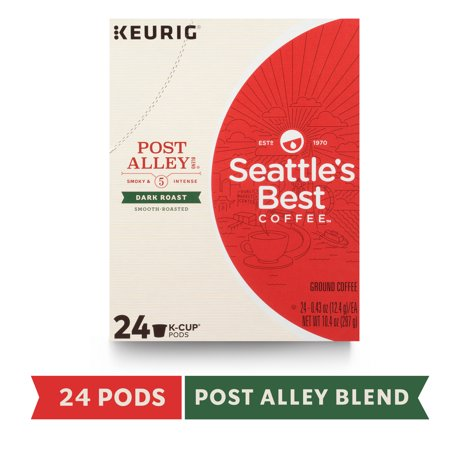 Seattle's Best Coffee Post Alley Blend Dark Roast Single Cup Coffee for Keurig Brewers, Box of 24 K-Cup