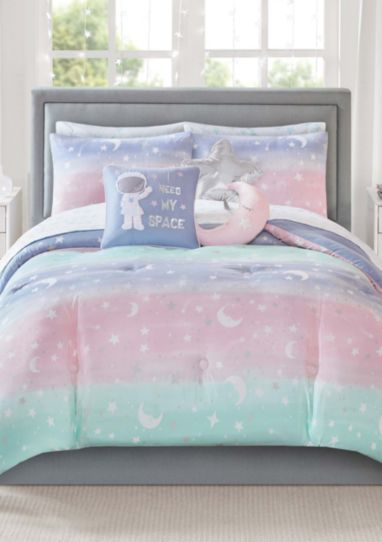 Pastel Rainbow Stardust Moon Amp Stars Girls Colorful