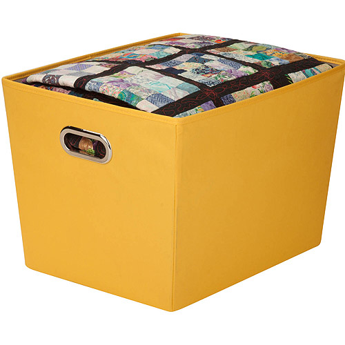 Honey-Can-Do Large Decorative Storage Bin with Handles