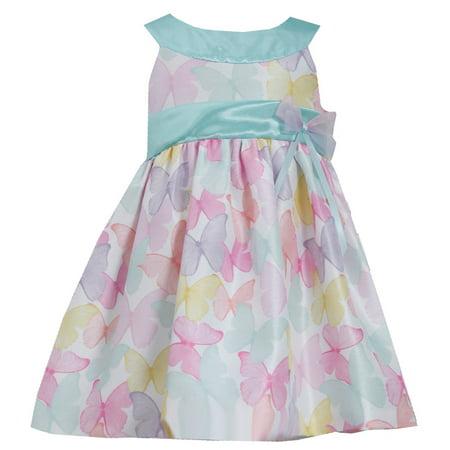 Bonnie Jean Little Girls Easter Dress :  Pastel Shantung 2T (Bonnie Jean Halloween Ghost Tutu Dress)