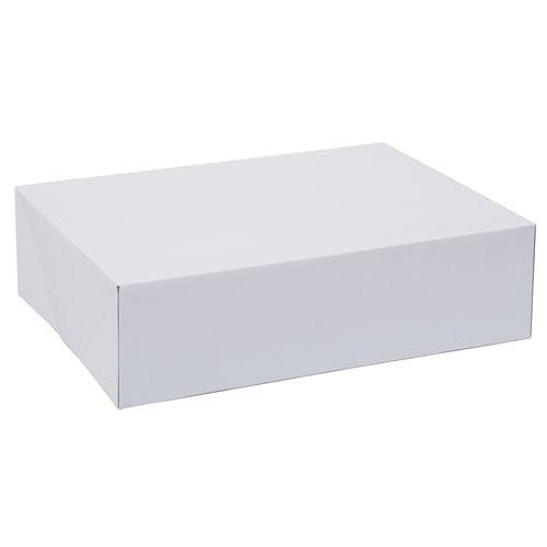 "5 x 10/"" x 10/"" x 6/"" Inch White Cake Box Birthdays Weddings"