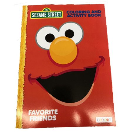 Coloring Book - Sesame Street - 128p Jumbo Coloring and Activity Book - Elmo