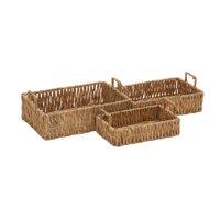 Naturally Exquisite Seagrass Tray Set Of 3