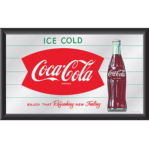Coca-Cola Vintage Mirror, Horizontal Refreshing New Feeling