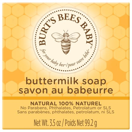 Burts Bees Skin Soap ((3 pack) Burt's Bees Baby Buttermilk Soap, 100% Natural Baby Soap Bar, 3.5 oz Bar)