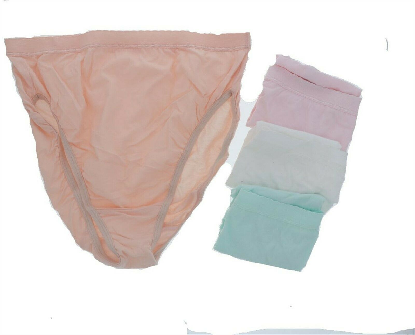 4 Breezies UltimAir Cotton Full Briefs Panties Size 7 Clothing Size 10 Bright