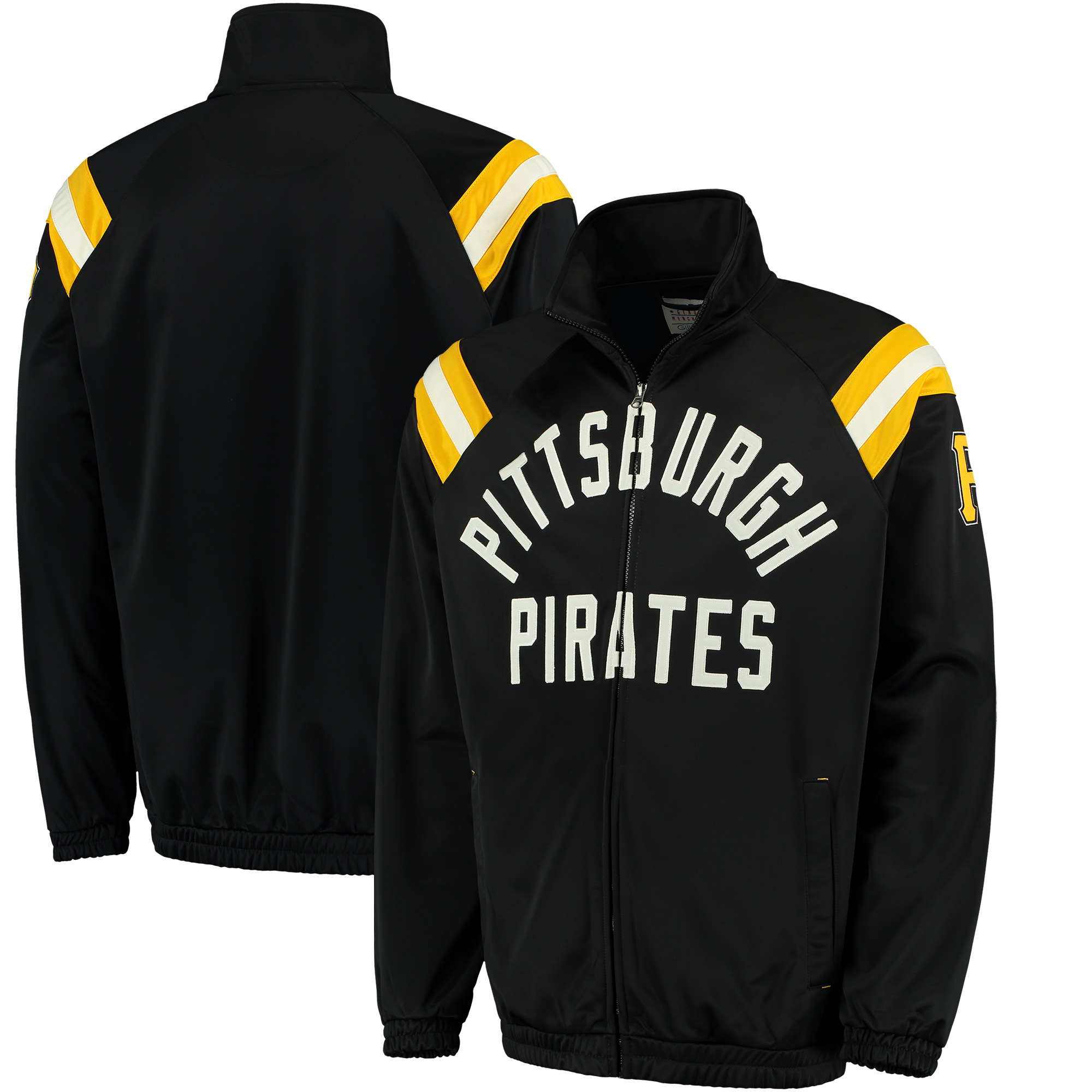Pittsburgh Pirates G-III Sports by Carl Banks Centerfield Track Full-Zip Jacket - Black