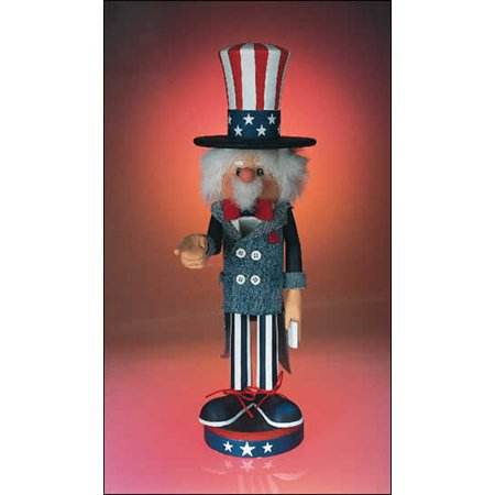 Zim's Heirloom Patriotic Uncle Sam Want You Wooden 14 Inch Nutcracker
