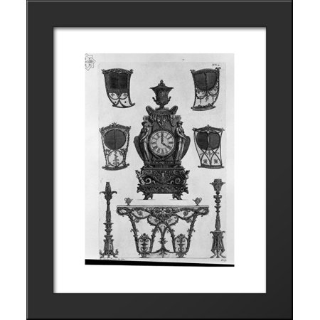 Four sides of the sedan, a clock, two candlesticks, table wall 20x24 Framed A... Frame Table Clock