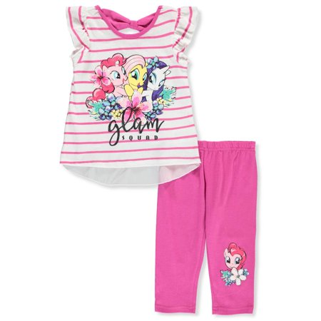 My Little Pony Girls' 2-Piece Leggings Set Outfit (My Little Pony Leggings)