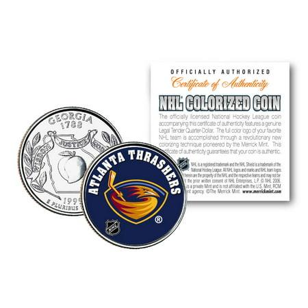 ATLANTA THRASHERS NHL Hockey Georgia Statehood Quarter US Colorize Coin (Georgia Coin Set)