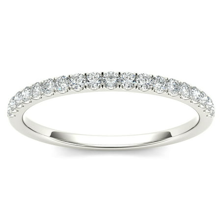 1/4Ct TDW Diamond 10K White Gold Wedding Band (Diamond Harmony White Gold Bands)