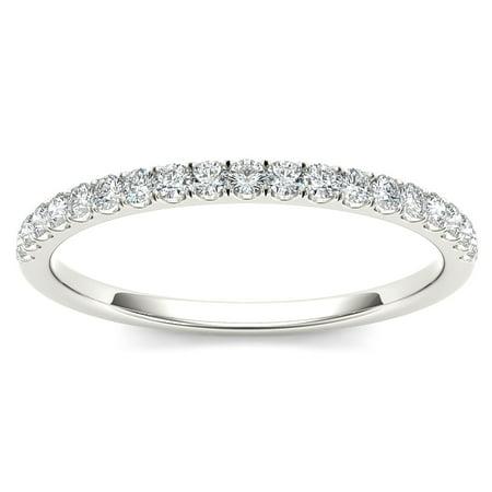 1/4Ct TDW Diamond 10K White Gold Wedding Band