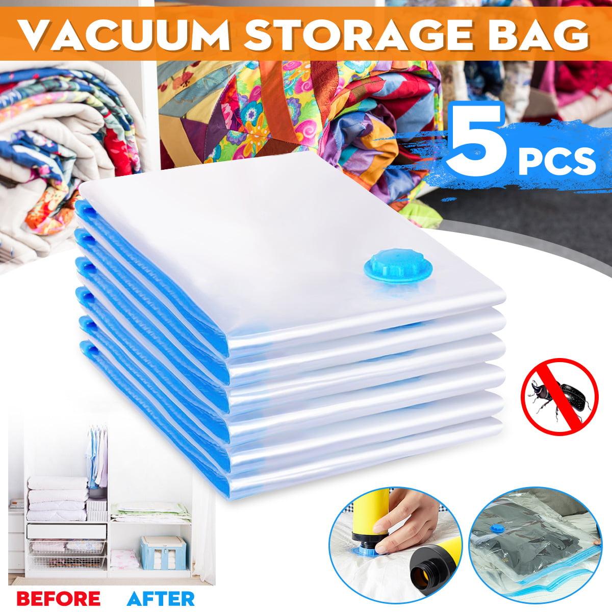 """5Pcs 19.69x23.62"""" Large Vacuum Seal Storage Bag Space Saver Saving Quilts Organizer Compressed Bag"""