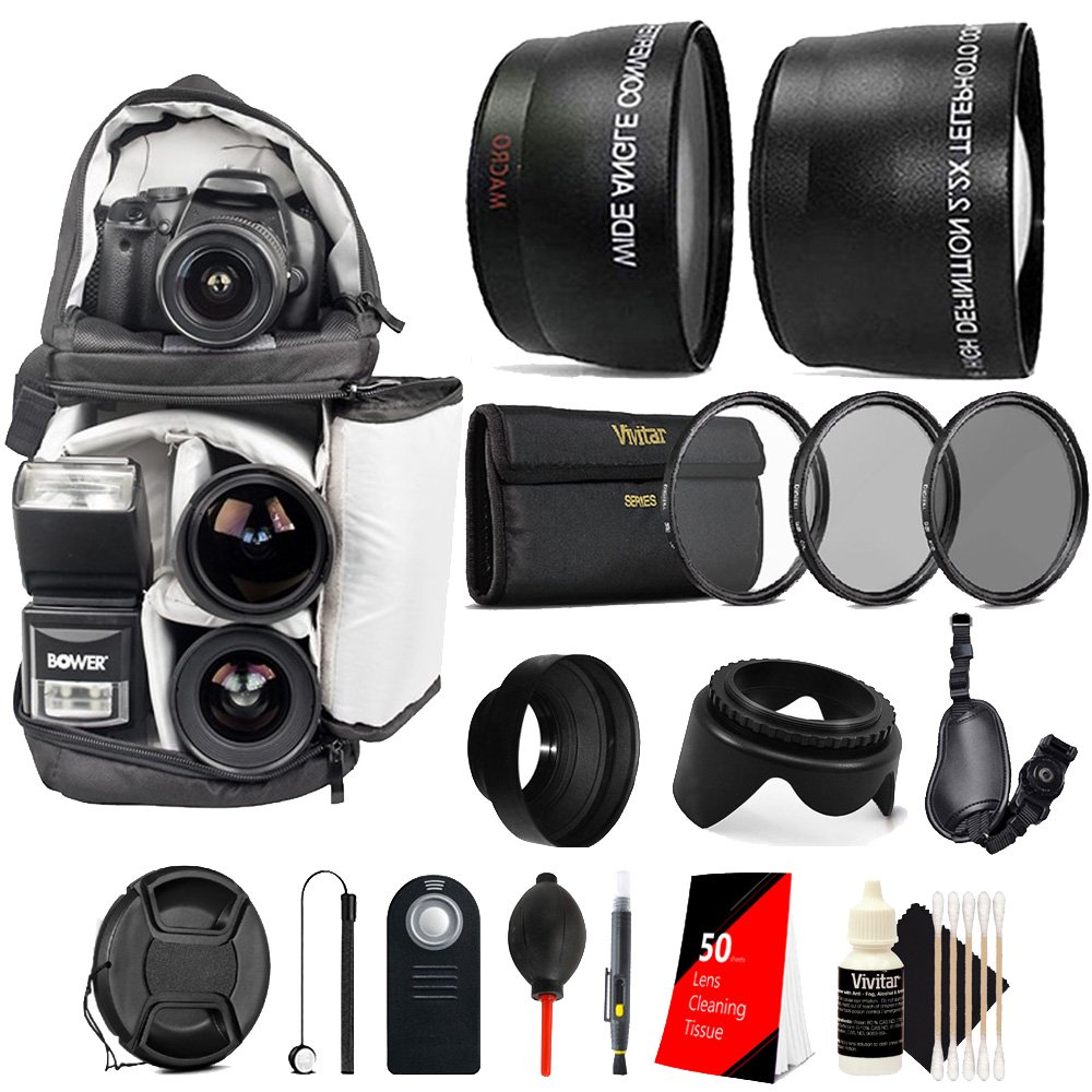 52mm Complete Accessory Kit for Nikon D3300 D3200 D3100 D5500 D5300 D7000 D7100 D7200