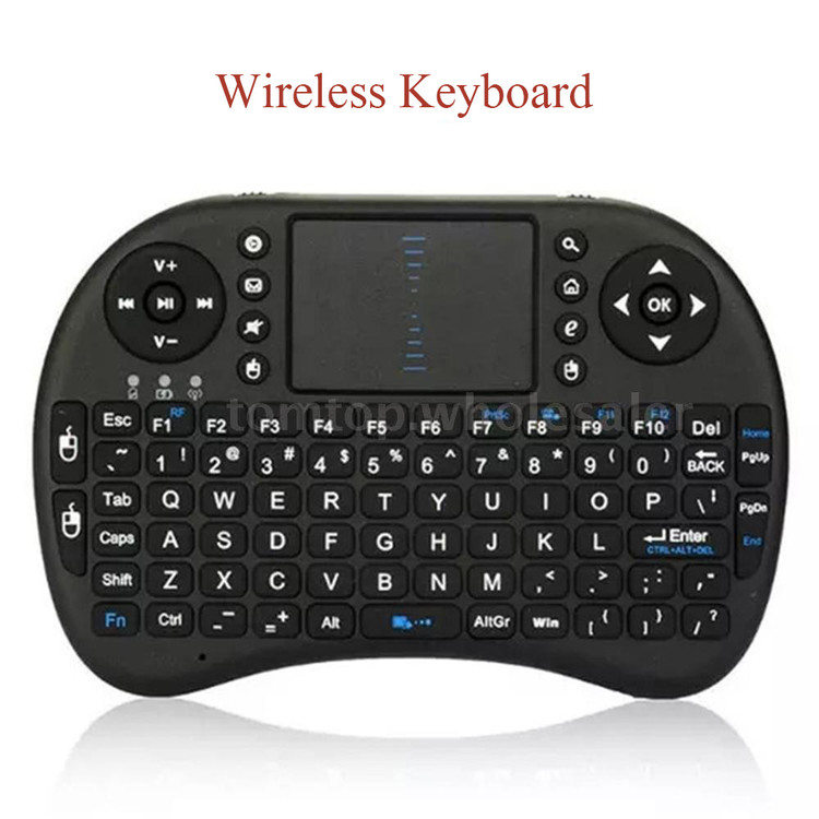 2.4G Wireless Mini Keyboard - Small Portable Gaming Qwerty Keyboard for PC, Tablet, Laptop, Android TV Box, Smart TV, Google TV Box, Xbox 360, PS3 & HTPC IPTV