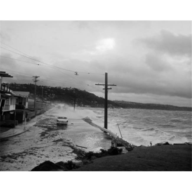 Posterazzi SAL255422223 USA West Seattle Beach Drive Stoerm on Puget Sound Poster Print - 18 x 24 in. - image 1 of 1