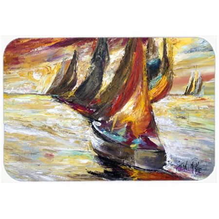 Caroline's Treasures Sails Sailboat Kitchen/Bath Mat