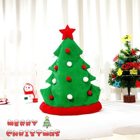 Christmas Tree Funny Party Hats Christmas Hats Plush Costume, Outfit Novelty Toy