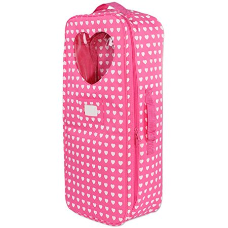 Pink Butterfly Closet 18 inch Doll Travel Carrier Trolley with Foldable Bed and Accessories Fits American Girl Doll - image 2 of 4