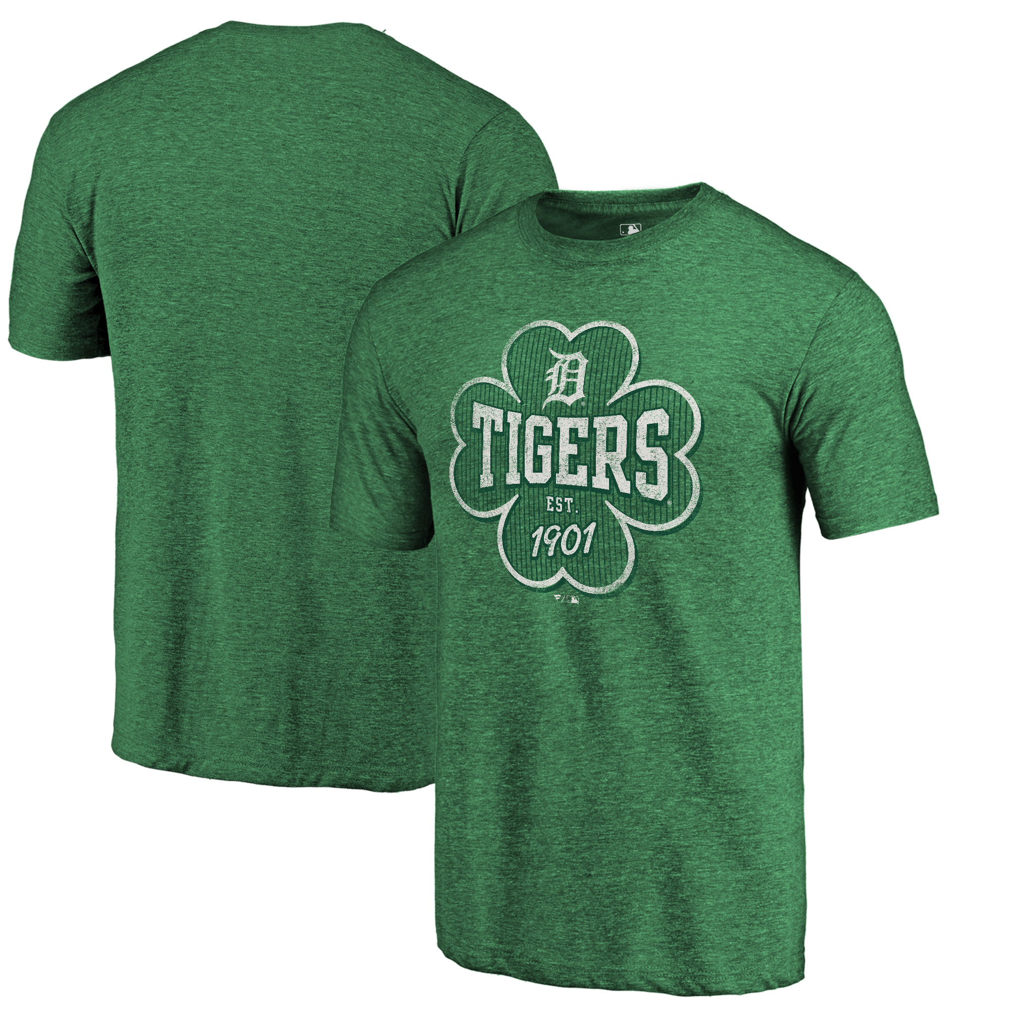 Detroit Tigers Fanatics Branded 2018 St. Patrick's Day Emerald Isle Tri-Blend T-Shirt - Kelly Green