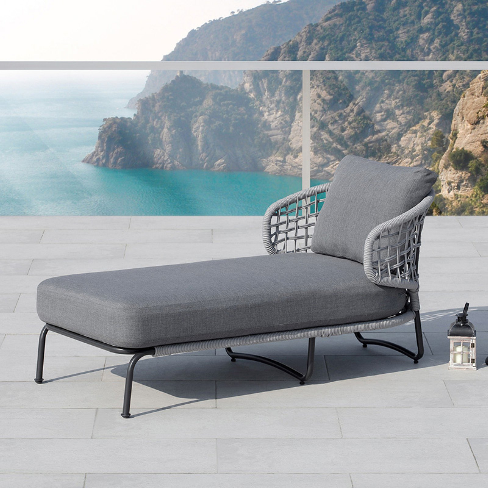 Ove Decors Indiana Gray Outdoor Chaise Lounge Chair   Walmart.com