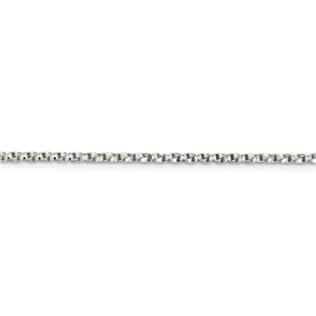 925 Sterling Silver 2.25mm Twisted Box Chain 30 Inch - image 1 de 5