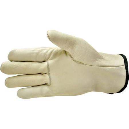 Cowhide Leather Gloves - Premium Genuine Grain Cowhide Leather Gloves, 3 Pairs, X-Large