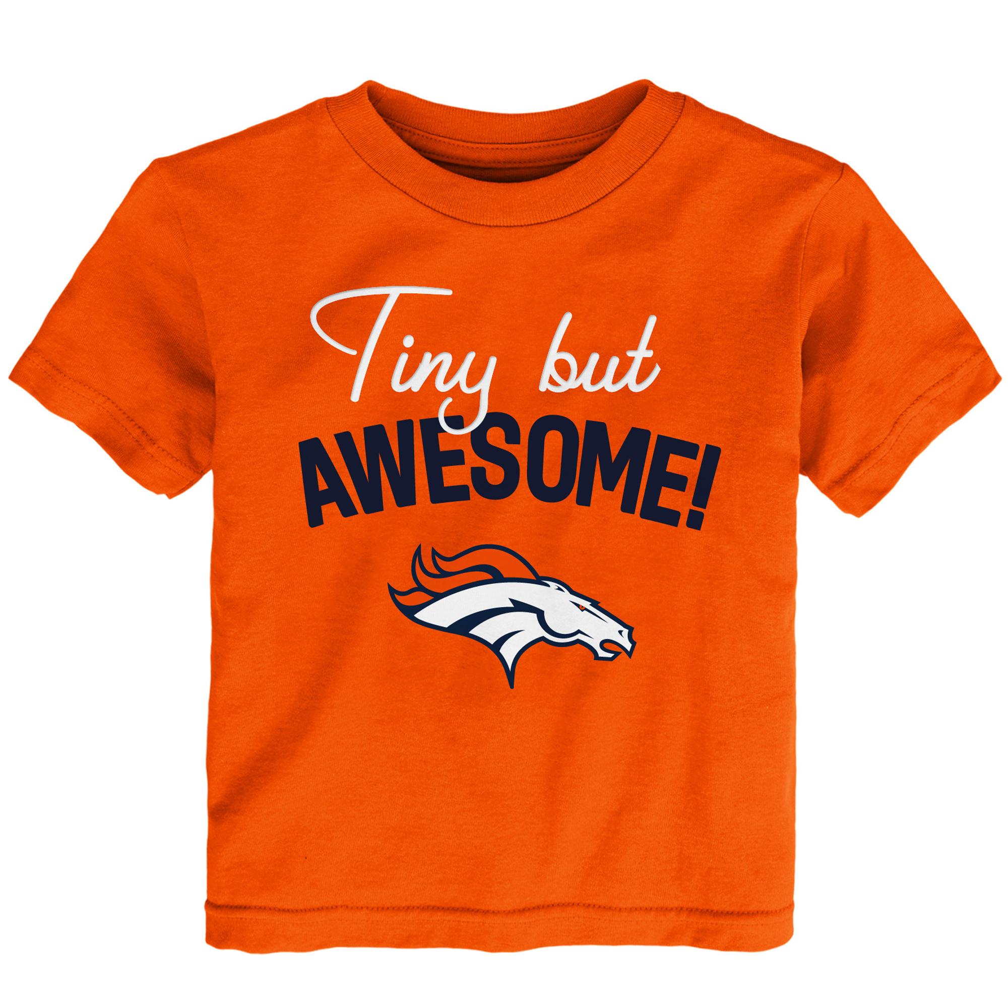 Denver Broncos Preschool Awesome Script T-Shirt - Orange