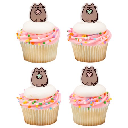 Pusheen Cat Cupcake Cake Decopics Pics Picks Toppers Decorations 24 Count ()