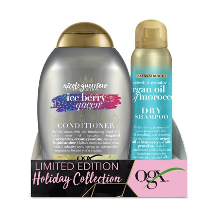 Ogx Ice Berry Queen Conditioner & Argan Oil Of Moroco Extra Strength Dry Shampoo Holiday Set ($10.96 Value)