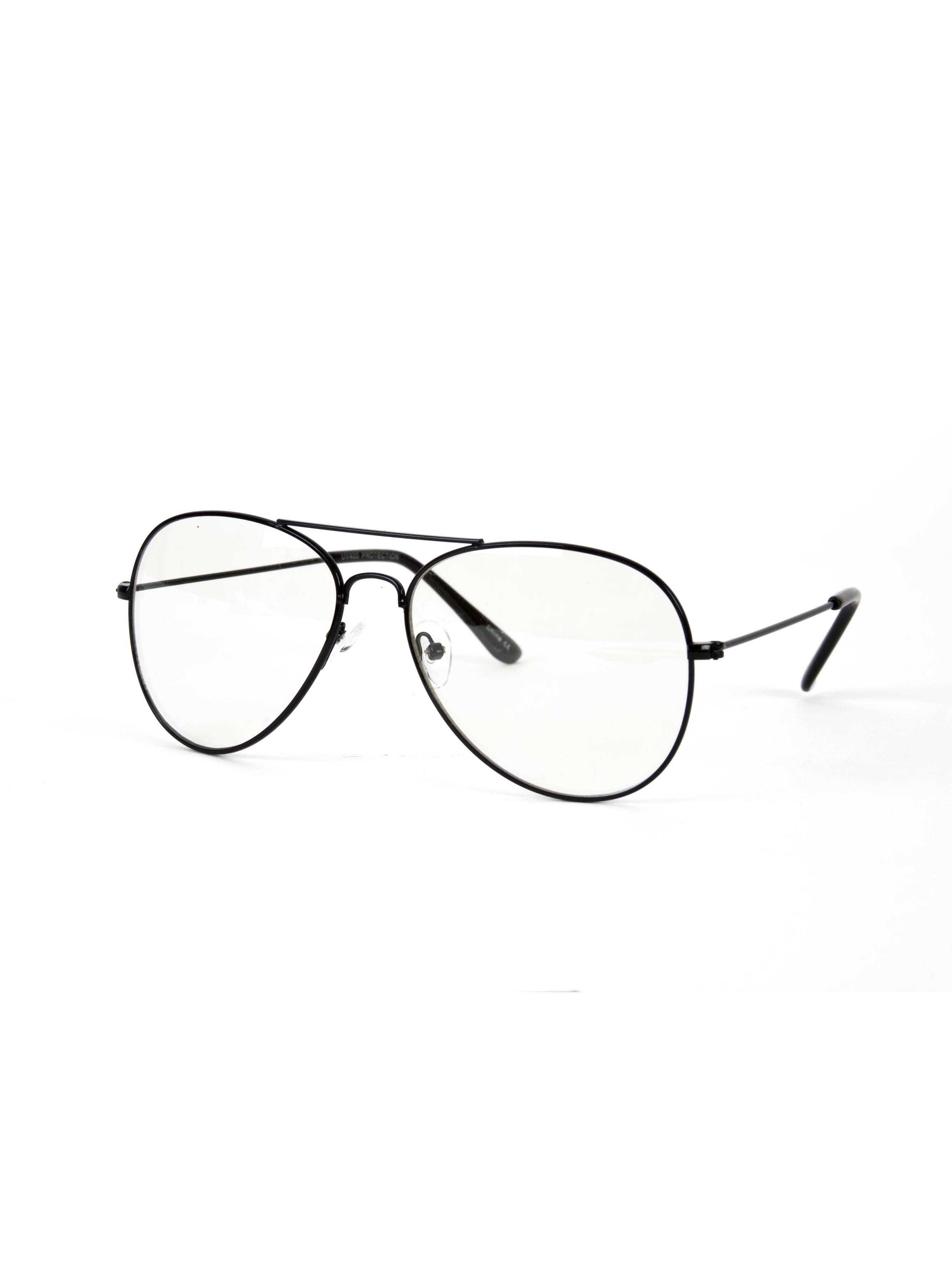 a1ddc773a9 Gravity s Non-Prescription Premium Aviator Clear Lens Glasses w  GT  Microfiber