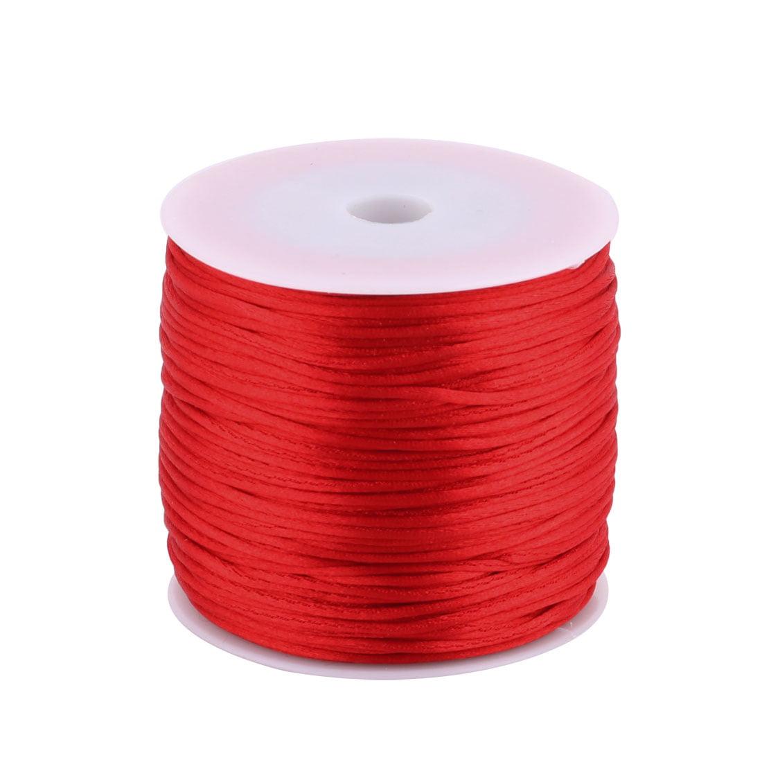 Nylon Handicraft DIY Knit Fan Flute Decor Pendant Cord Red 1.5mm Dia 78.7 Yards