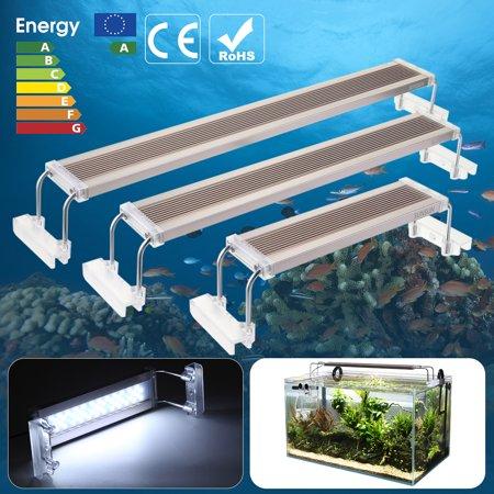 12W/18W/24W Fish Tank LED Aquarium Light Overhead Freshwater Plant Lamp Fit For Tank Plant Grow 8.7-20inch/28-75cm ()