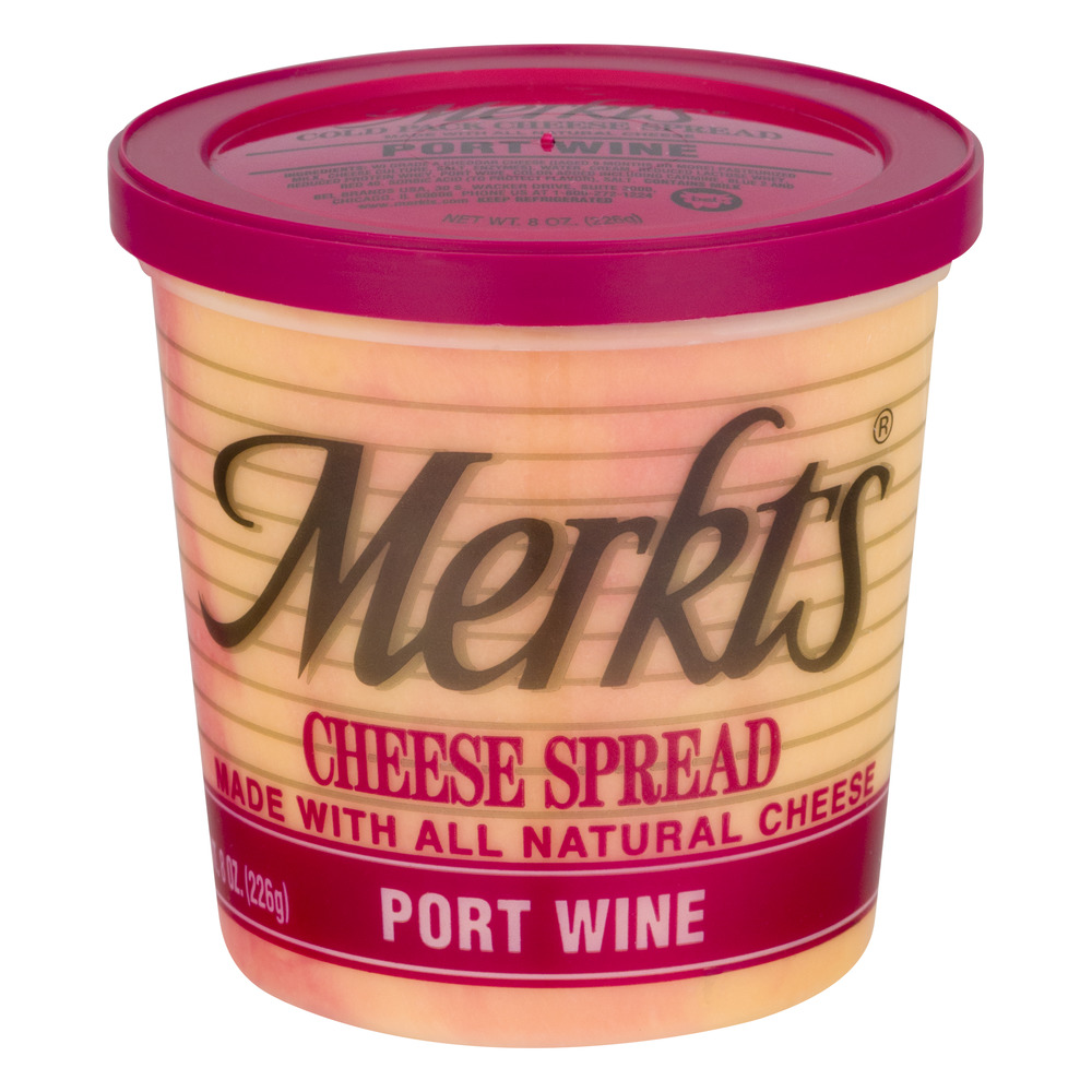 Merkts Cheese Spread Port Wine, 8.0 OZ