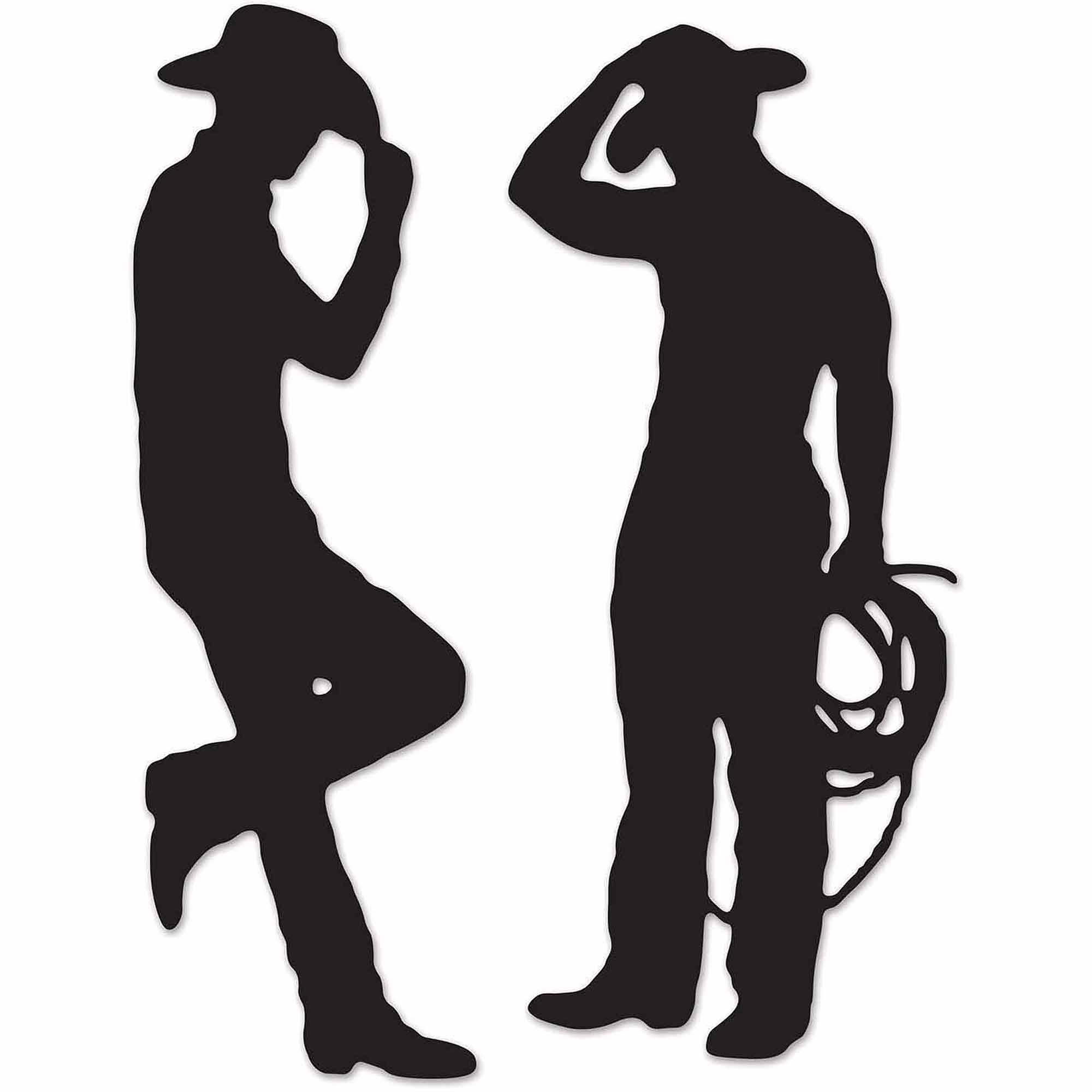 Cowboy Silhouette Cutouts