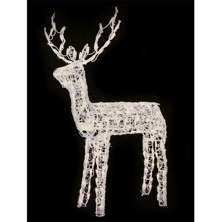 Northlight 48 in animated crystal 3 d standing buck for 48 lighted crystal 3 d outdoor christmas wreath decoration
