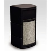 Commercial Zone 739101 Side Entry Waste Container - Black