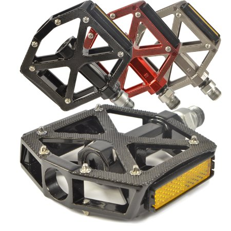 - Lumintrail PD-603S MTB BMX Road Mountain Bike Bicycle Platform Pedals Flat Alloy Sealed Bearing 9/16