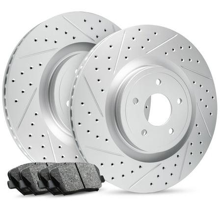 Front Premier Drilled Slotted Brake Rotors & Ceramic Pads Explorer Sport Trac ()