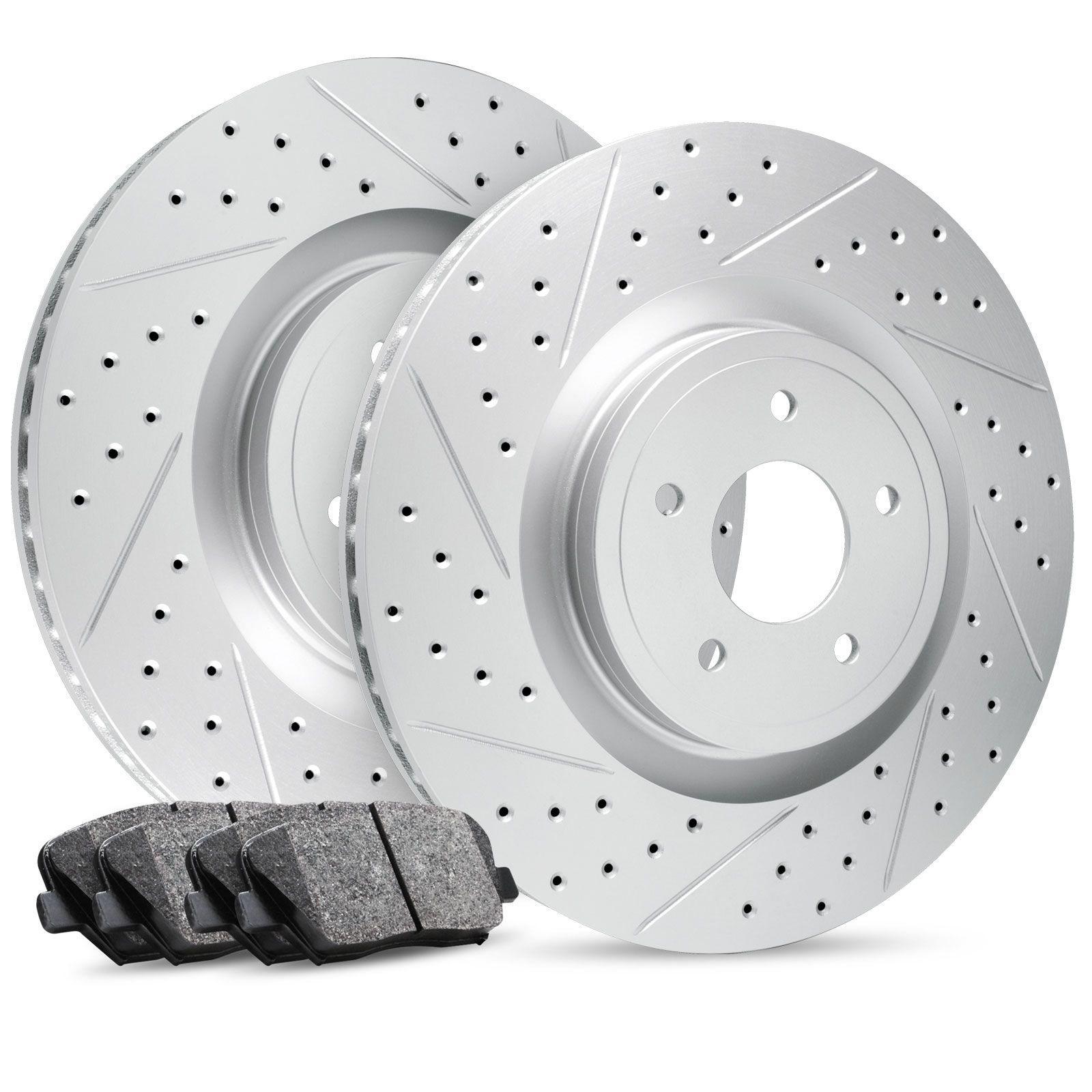 For 2011 2012 2013 2014 2015 FORD FIESTA Front Drill Slot Brake Disc Rotors