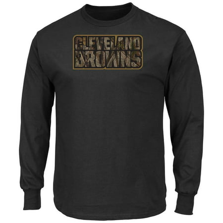 Crew Neck Majestic Camo Cleveland Browns Long Sleeve Tee