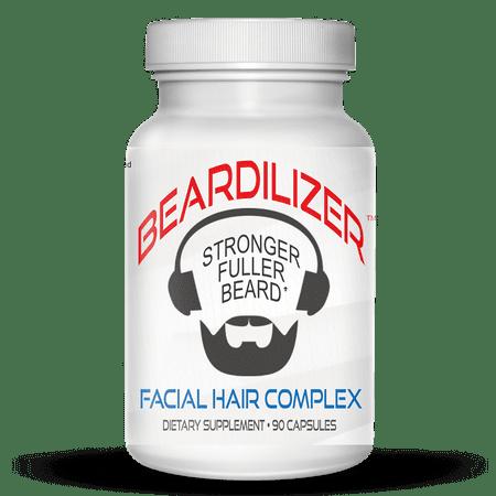 BEARDILIZER FACIAL HAIR GROWTH COMPLEX FOR MEN 90 (Best Biotin For Facial Hair Growth)