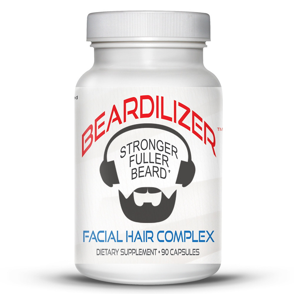 BEARDILIZER FACIAL HAIR GROWTH COMPLEX FOR MEN 90 CAPSULES