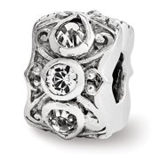 Sterling Silver Reflections Swarovski Elements Spacer Bead