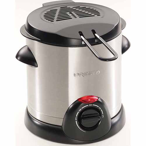 Presto 05471 1000-Watt 1-Liter Stainless-Steel Electric Deep Fryer