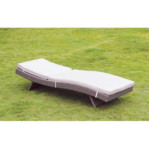 Ebern Designs Paramkusham Patio Reclining Chaise Lounge with Cushion