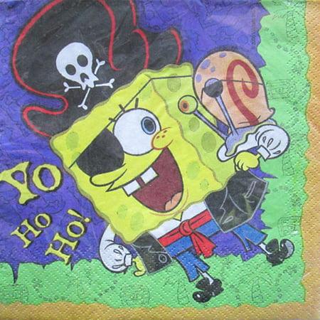 SpongeBob Squarepants 'Pirate' Lunch Napkins (16ct) (Spongebob Themes)