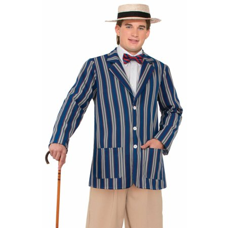 Gangnam Style Jacket Halloween (Mens Roaring 20's Boater Jacket Halloween Costume)